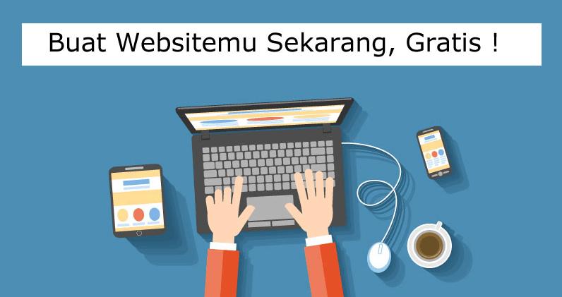 cara membuat website gratis lewat HP